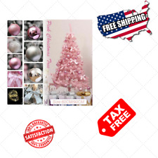 Details about  Artificial Pink Christmas Tree with LED Home Decoration Durable P