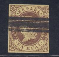 ESPAÑA (1862) USADO SPAIN - EDIFIL 61 (1 r) ISABEL II