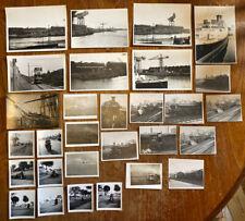 Vintage Black & White Photographs, 1950s 1960s Transport Motorbikes Trains Boats