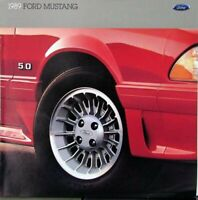 1989 Ford Mustang LX 5.0 GT Packages Options Sales Brochure Oversized Original