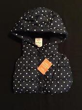 Gymboree NWT Girls Bundled and Bright Navy Blue Heart Dot Puffer Vest Size 6-12
