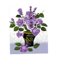 Purple Flower - Stamped Cross Stitch Kits 11CT Cloth for Beginners Adults