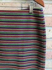 1afbff0305 Talbots Womens Multi Striped Pencil Straight Knit Skirt - size 12P EUC FAST  SHIP
