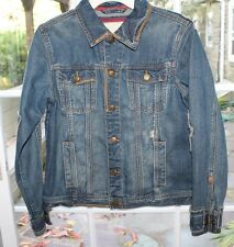Aeropostale Women Denim Jean Jacket  Distressed Size Medium M