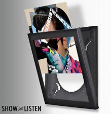 "12"" VINYL LP RECORD DISPLAY FRAME BLACK ~ INTERCHANGEABLE DISPLAY SYSTEM"