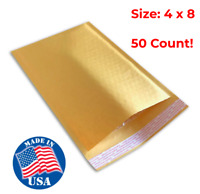 Size: #000 4x8 Yellow Kraft Bubble Mailers Padded Shipping Protection Envelopes