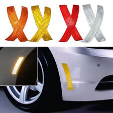 2Pcs Car Bumper Reflective Warning Strip Exterior Decal Stickers Auto Accessory
