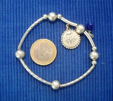 LOT 4pc BRACELET chaîne serpent argent clip magnétique laiton charms breloques