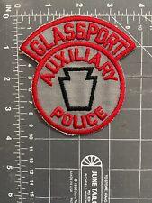Vintage Glassport Auxiliary Police Patch Keystone Pennsylvania PA Officer GPD