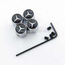 Mercedes Benz Casquillos De Cromo bloqueo antirrobo de Neumáticos Juego de 4 Llantas Merc Polvo Tapa