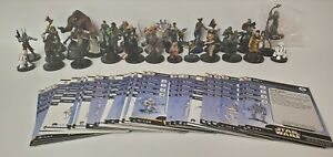 Star Wars Miniatures Lot #4 of Fringe Miniatures with Cards (37)