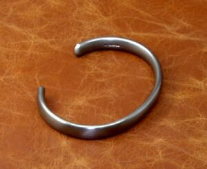 "Men's Heavy ""Oxidised Silver"" Solid 925 Sterling Silver Torque Bangle Bracelet"