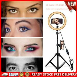 Adjustable Tripod Stand 12 inch LED Selfie Ring Fill Light Photo Video Lamp