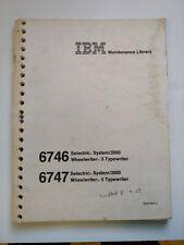 Ibm Wheelwriter 5 And 6 Typewriter Service Manual Maintenance Library