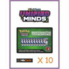 Unified Minds Codes x 10 | Pokemon Online Booster Pack Code Card TCGO Sun & Moon
