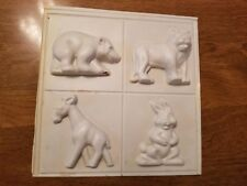 Vintage Wilton Candy, Chocolate, Soap or Beeswax Mold. Rabbit, Donkey, Bear.
