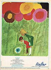PUBLICITE ADVERTISING 055  1966  LINFLOR  LA FLORETTE  vetements enfants