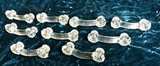 "Set of Nine (9) Matching Clear Glass 4 1/8"" Drawer Pulls Cabinet Handles"