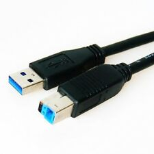 5m USB 3.0 Kabel A Stecker B Stecker Superspeed 5 Gb/s 5,0m schwarz 5,0