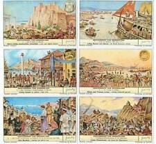 Serie completa de 6 cromos Liebig. Historia de Grecia. Geschiedenis van Griekenl