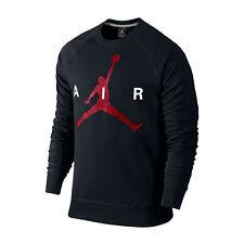 Brand New Mens Air Jordan Jumpman Brushed Crew Sweatshirt 875043 010 Black SZ XL