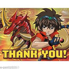 (8) BAKUGAN Battle Brawlers THANK YOU NOTES ~ Birthday Party Supplies Stationery