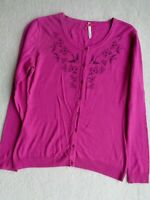 Ness Scotland Dark Pink Cotton Mix Summer Lightweight Buttoned Cardigan Size M