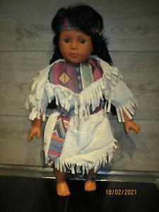 Indianer-Puppe,von Sonneberg mit Original Kleidung