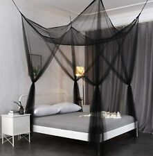 OctoRose Four-Poster or Ceiling Mount Large Bedroom Airy Mosquito Net Bed Canopy