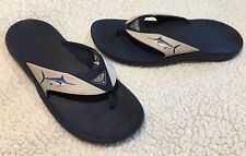 Columbia PFG Toe Post Sandals Mens Size 13 Flip Flops Thongs Embroidered Fish