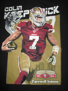 COLIN KOEPERKICK No 7 SAN FRANCISCO 49ers FAREWELL SEASON 1971-2013 (LG) T-Shirt