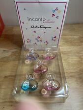 New Salvatore Ferragamo Incanto 5 Piece Collection Mini Perfume Set