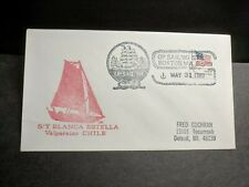CHILE Sailing Ship S/Y BLANCA ESTELLA Naval Cover 1980 OP SAIL '80 Cachet