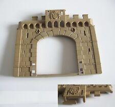 PLAYMOBIL (L33c07) MOYEN-AGE - Façade du Pont Levis Chateau 3666 Jaunie Cassée