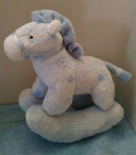 "TY Pretty Pony Rocking Horse Blue 8/"" Plush Stuffed Baby Toy Love BABY SAFE NWT"