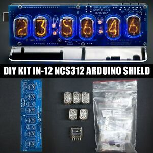 DIY KIT Nixie Tubes Clock IN-12 Arduino Shield NCS312 [WITH OPTIONS] 12/24H GPS