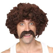 drôle athlète 118 rétro années 1970 RUNNER moustache Perruque ENSEMBLE MARRON +