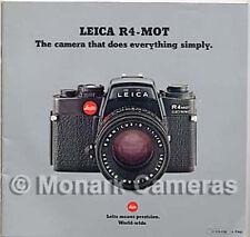 Leica R4 Mot Electronic fotocamera e obiettivo SALES BROCHURE, più cataloghi elencati