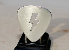 Lightening bolt sterling silver guitar pick