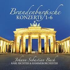 CD Brandenburgische Konzerte 1-6 von Bach  2CDs mit Karl Richter und Kammerorche