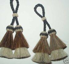 Horse hair tassel, Intricate sorrel/white, horsehair tassel, horsehair  Jewelry