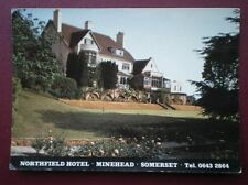 POSTCARD SOMERSET MINEHEAD - NORTHFIELD HOTEL C1980