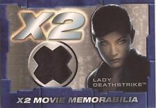 "X-Men United X2 - ""Lady Deathstrike"" Memorabilia Costume Card"