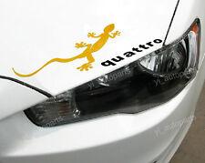 "Gecko Gold Car Headlight Taillight Eyebrow Decal Sticker Vinyl 13"" Reflective"