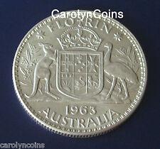 1963 One Florin Australian Silver Pre Decimal Coin Queen Elizabeth II