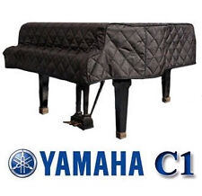 "Yamaha Piano Cover C1 Black Quilted Cover 5'3"" G1, GP1, GC1, G1F GH1B SIDE SLITS"