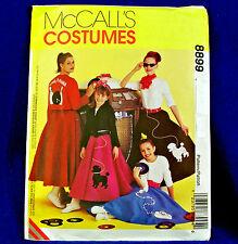 Mccall's 8899 1950s Poodle Skirt, Jacket Pattern sz8-10