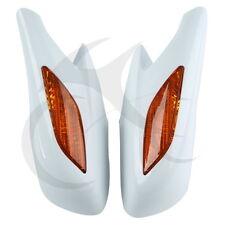 White Rear View Mirrors Orange Turn Signals Lens For Honda ST1300 2002-2011
