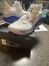 Under Armour Curry 6 White/Blue Fox Dub Nation Size 13 Mens BRAND NEW In Box