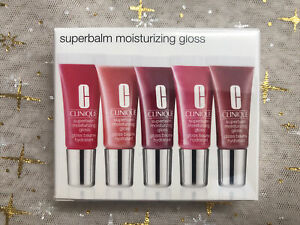 NIB CLINIQUE Superbalm Moisturizing Gloss Gift Travel Set 5 Lip glosses 5ml Each